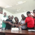 Cutting Camp Cake