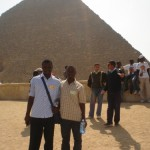 I and Allan at the pyramids
