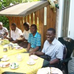 Lunch at Prof. Theo's home