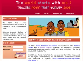 The World Starts With Me Teacher Post Test Survey 2008
