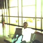 Waiting at Entebbe Airport