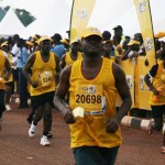 Matrich finishing the MTN Marathon 2009