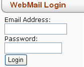 WebMail Login Form