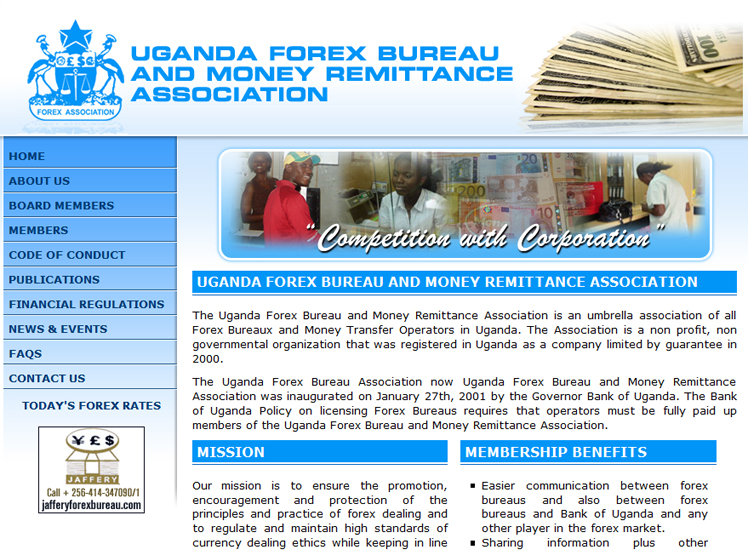 Uganda forex bureau money remittance association